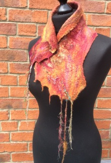 Nuno felted collar